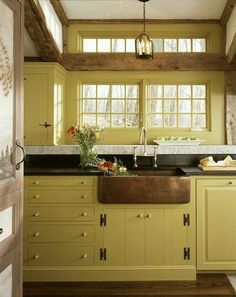 Love the cabinets and the sink!