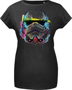 GoZoo Star Wars Women's Imperial Stormtrooper NEON Sketch Art T-Shirt