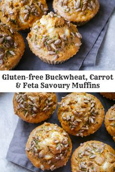 Buckwheat Carrot and Feta Savoury Muffins - Gluten free savoury muffins are the perfect sugar free snack and easy to make! Buckwheat carrot and feta is a really delicious healthy flavour combination. Recipe via nourisheveryday.com