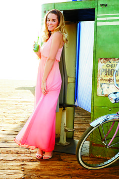 A subtle ombre effect is extra pretty on maxi dresses! LC Lauren Conrad at #Kohls