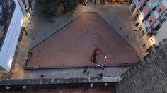 El Fossar de les Moreres, des de la terrassa de Santa Maria del Mar, Barcelona