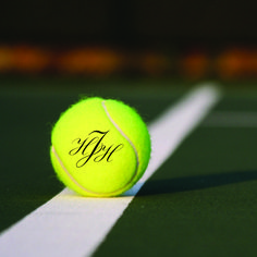 Holy moly, you can monogram tennis balls?! LOVE IT!!!