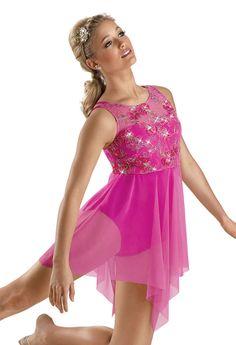 Sequin Floral Mesh Lyrical Dress; Weissman Costume