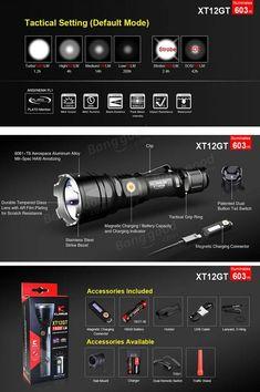 Klarus XT12GT XHP35 HI D4 1600LM Magnetic Charging Tactical Ourdoor LED Flashlight Sale - Banggood.com