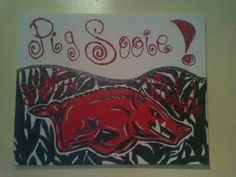 Pig sooie canvas painting
