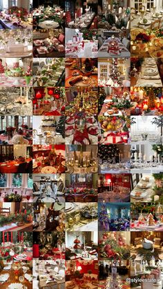 Take a look at this beautiful Christmas Table Ideas roundup post! Christmas Buffet Tablescapes, Christmas Table Settings, Christmas Table Decorations, Christmas Candles, Christmas Love, Christmas Holidays, Christmas Crafts, Christmas Ideas, Beautiful Christmas