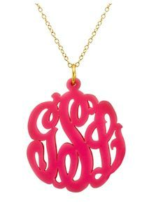 monogramed necklace❤