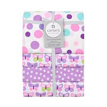 Carter's 4 Pack Flannel Butterfly Dots