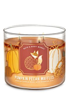 Nutty & pumpkin-y, this candle's sure to get your family out of bed. Topped with a decorative lid.