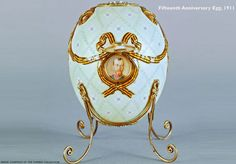 The Faberge Imperial Fifteenth Anniversary Egg, 1911.