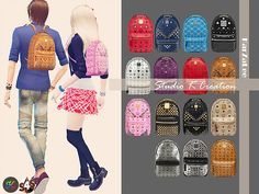 Backpack new mesh by Karzalee at Studio K-Creation via Sims 4 Updates Check more…