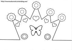 Image du Blog nounoudunord.centerblog.net Paper Crafts For Kids, Templates, Activities, Blog, Conte, Tinkerbell, Boy's Day, Needlepoint, Felt