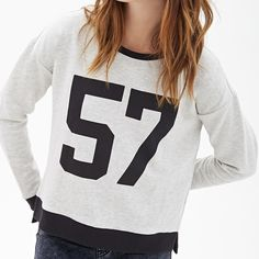 Forever 21 Crew Neck Sweatshirt Worn once & in great condition! Slightly cropped. Forever 21 Tops Sweatshirts & Hoodies