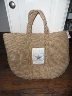 Ručne robená taška zo špagátu