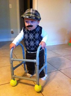 Old Man Kids Halloween Costume