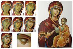 Religious Images, Religious Icons, Religious Art, Byzantine Icons, Byzantine Art, Russian Icons, Image Icon, Mary And Jesus, Sketches