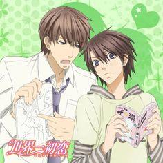 Hatori Yoshiyuki and Yoshino Chiaki (Sekai-ichi Hatsukoi) --- totally cute couple!!! :D