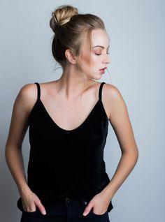 Kristen Tank Online Boutiques, All Black, Basic Tank Top, Custom Design, Camisole Top, Tank Tops, Womens Fashion, Shopping, Dresses