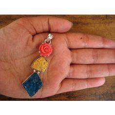 Druzy Pendant/Multi Color Necklace/Pendant by FootSoles on Etsy, $26.10