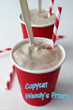 copycat Wendy's Frosty - I didn't know they still made Neslie Quick powder.