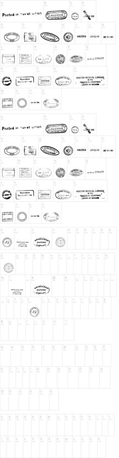 Old Seals Font. This would be great for future design use.