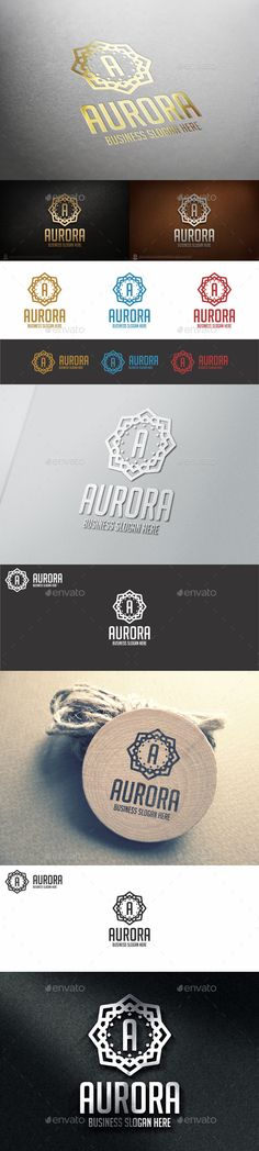 Aurora Logo Badge Logo Template — Vector EPS #royal logo #Decor Business • Available here → https://graphicriver.net/item/aurora-logo-badge-logo-template/11043426?ref=pxcr