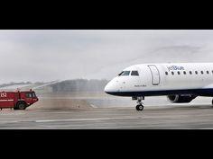 JetBlue arrival and ribbon cutting at Savannah Hilton Head International... from Savannah Morning News