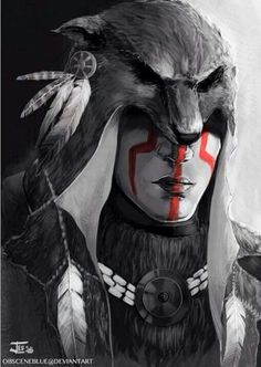 Concept art from the Assassin's Creed saga by Obscene Blue Native American Tattoos, Native Tattoos, Native American Images, American Indian Art, Native American Indians, Native Indian, Native Art, Aztec Warrior, Inka
