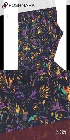 One Size BNWT Leggings! Beautiful sought after scroll print in summer colors on black background 🙂 offers welcome Price flexible LuLaRoe Pants Leggings