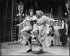 [Jim Dale as P. T. Barnum and Terri White as Joice Heth in Barnum (1980)