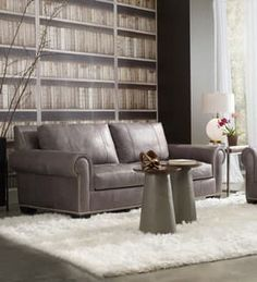 Leather signifies luxury and comfort, and Bradington-Young's leather furniture is designed with these ideals in mind. Find sophisticated Bradington-Young leather furniture like this sofa at West Coast Living