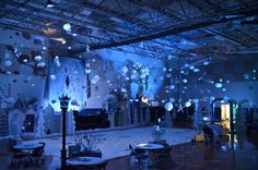 Our High school winter dance, Central Park,NY a lot of cardboard,foam core, paint and glitter :-)