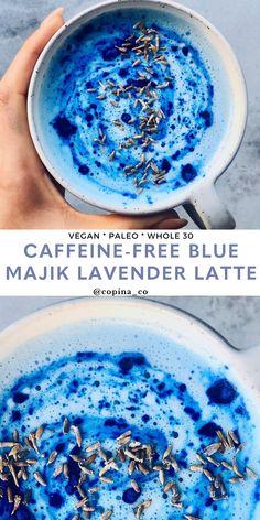 Caffeine-Free Blue Majik Lavender Latte – Food – Home Recipe Lavendar Latte, Lavender Tea, Lavender Latte Recipe, Smoothie Drinks, Smoothie Bowl, Smoothies, Spirulina Recipes, Blue Spirulina, Tea Latte