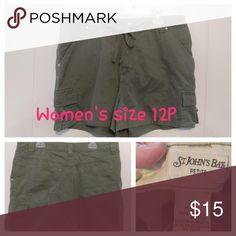 St.John's bay shorts size 12p Like new St. John's Bay Shorts