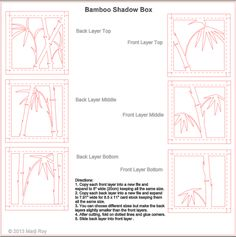 Project Description:   Based on Chinese brush painting,  this is a composition of contemporary bamboo branches. This Silhouette file is a c...