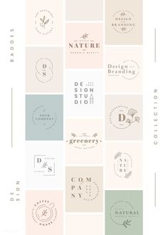 Discover recipes, home ideas, style inspiration and other ideas to try. Corporate Design, Branding Design, Logos, Floral Logo, Floral Card, Leaf Logo, Badge Design, Logo Design Inspiration, Design Ideas
