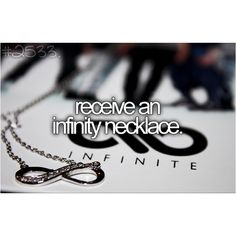the thing that makes me laugh is that thousands of people are pinning this because they want infinity necklaces, but the picture is obviously of INFINITE. XD