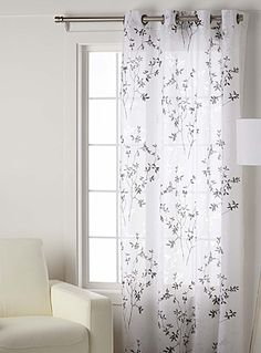 Le Rideau Voile Branches Dautomne 135x220 Cm Living Room CurtainsLiving