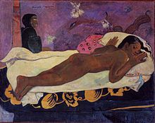 Paul Gauguin Manao tupapau art painting for sale; Shop your favorite Paul Gauguin Manao tupapau painting on canvas or frame at discount price. Paul Gauguin, Caravaggio, Henri Matisse, Gauguin Tahiti, Spirits Of The Dead, Paul Cézanne, Art Gallery, Famous Artwork, Impressionist Artists