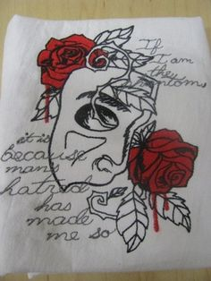 Dark Tales - Phantom of the Opera Embroidered Waffle Weave Hand Towel Theatre Tattoo, Urban Threads, Dark Tattoo, Locked Wallpaper, Phantom Of The Opera, Hand Towels, Art Sketches, Embroidery Designs, Drawings
