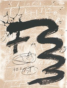 Antoni Tapies, one of my favourite artists...