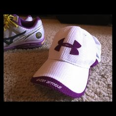 Women's under armor hat Purple and white women's under armor hat good used condition one size adjustable back Under Armour Accessories Hats