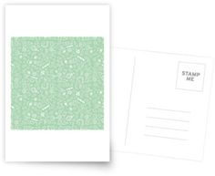 """Pattern Sweets"" Postcard by George Barakoukakis. Dims: 100mmx150mm. 300gsm card with a satin finish. Superior writing surface for your words of wisdom. Discount of 20% on every order of 8+ cards"
