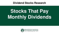 Want regular monthly income?  Get to know the stocks that pay monthly dividends.  Here's how.