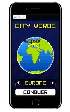 Citywords è il divertissimo puzzle game in cui lo scopo è  formare parole con due o più lettere adiacenti in qualunque direzione.