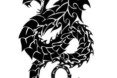 29 best dragon tattoo stencils images
