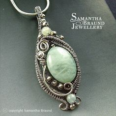 Mermaid Amulet III - Aquamarine and silver | Flickr - Photo Sharing!