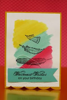 cards by carli: fine feathers, stampin up, http://carliambrose.blogspot.com.au, blooming with kindness
