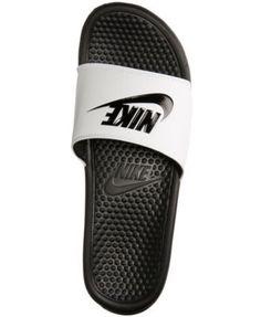 timeless design 5a455 4a0ba Nike Men s Benassi Jdi Slide Sandals from Finish Line - White 8