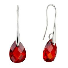 Pugster July Red Angel Teardrop Swarovski Crystal Earrings Pugster. $14.99. Perfect gift for any occassion. Made with Swarovski Elements. Comes with a gift box. Pugster design. Earrings for Women